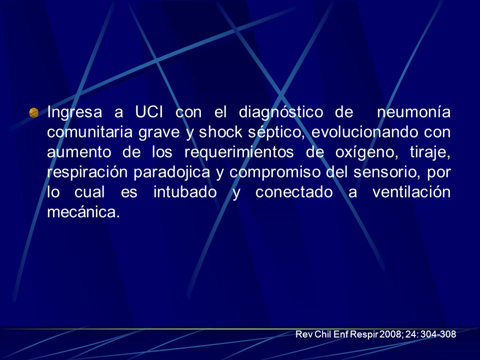 Laboratorio: Hematocrito (%) 24,8 Hemoglobina (g/dL) 8,4 Leucocitos (mm3) 18.800 Segmentados 52 (%) Plaquetas (mm3) 223.000 proteínas totales: 12,4 g/dL, albumina: 3,0 g/dL, globulinas séricas: 9,4 g/dL, LDH: 377 U/L, PCR:15,5 mg/dL.
