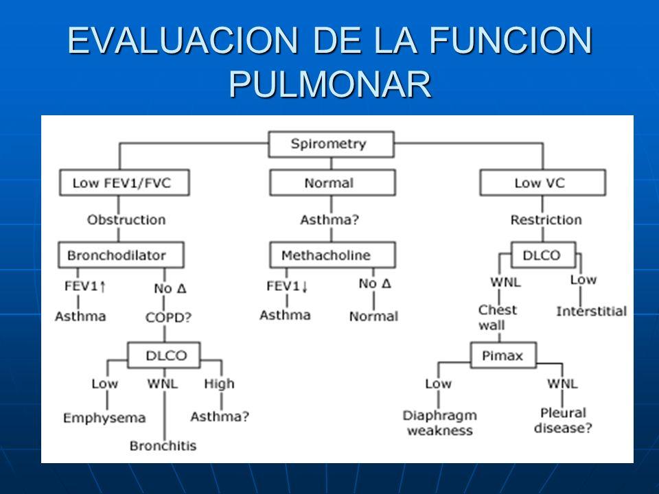 EVALUACION DE LA FUNCION PULMONAR