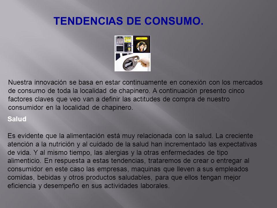 TENDENCIAS DE CONSUMO. Nuestra innovación se basa en estar continuamente en conexión con los mercados de consumo de toda la localidad de chapinero. A