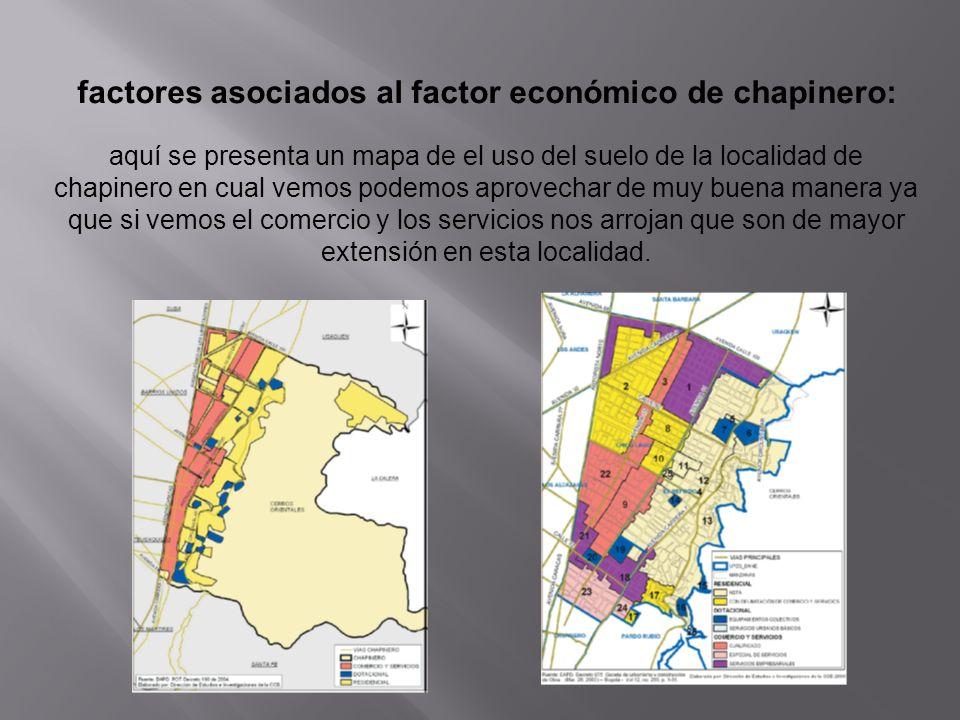 factores asociados al factor económico de chapinero: aquí se presenta un mapa de el uso del suelo de la localidad de chapinero en cual vemos podemos a