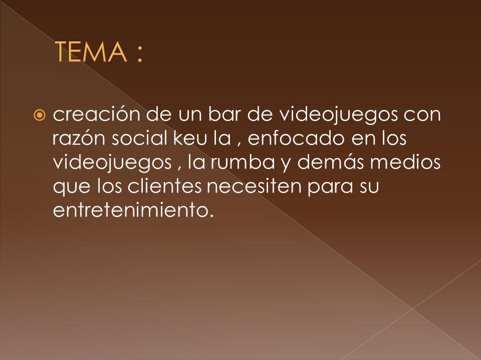 GENERAL: Satisfacer las necesidades de entretenimiento del consumidor para ingresar al mercado de los bares de videojuegos.