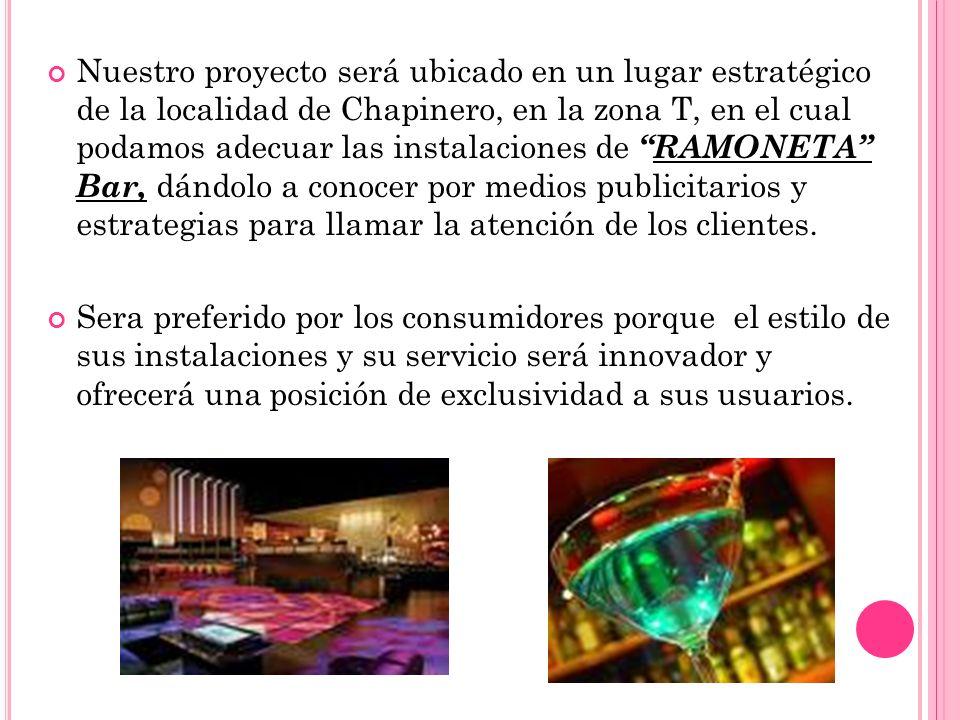 Nuestro proyecto será ubicado en un lugar estratégico de la localidad de Chapinero, en la zona T, en el cual podamos adecuar las instalaciones deRAMON
