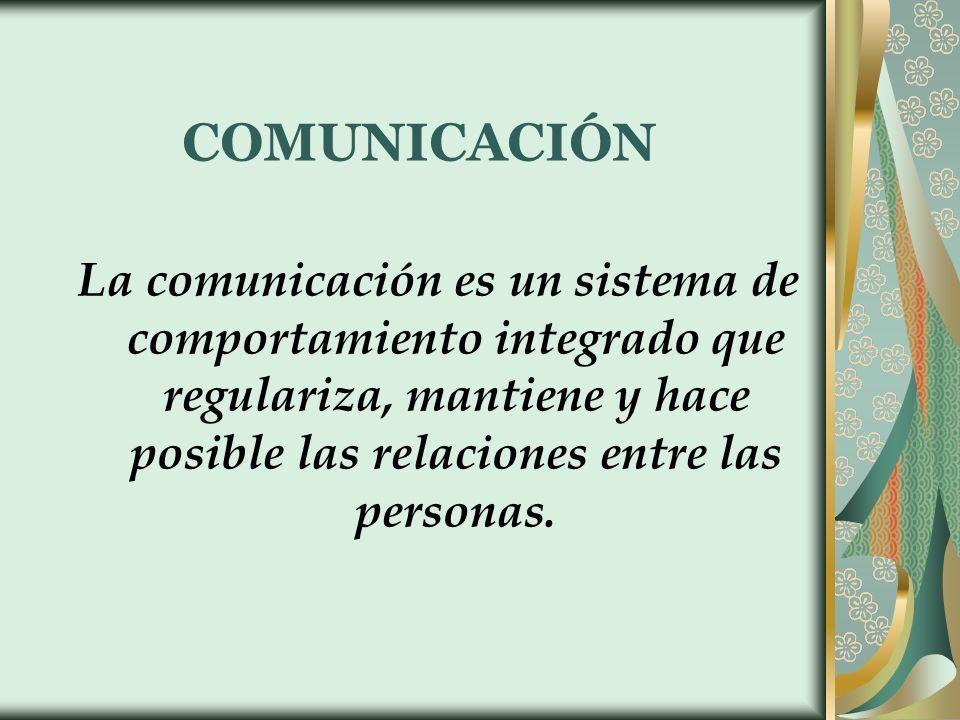 La comunicación implica transferencia de información y significado de una persona a otra.