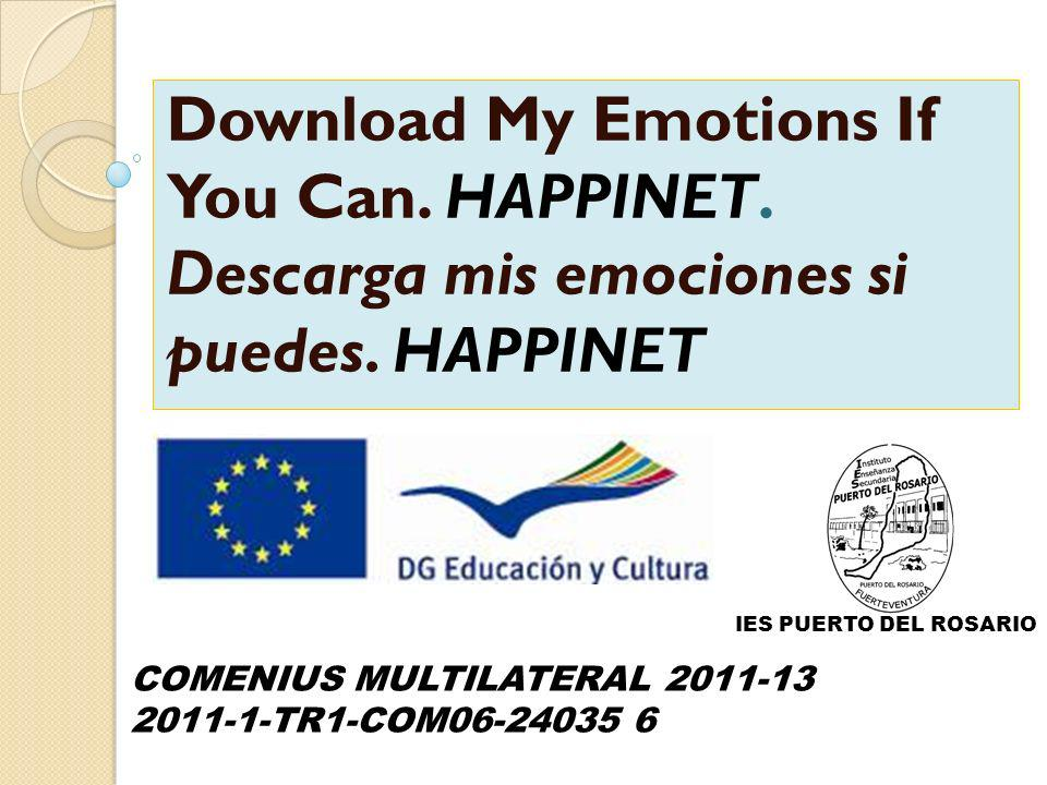 Download My Emotions If You Can. HAPPINET. Descarga mis emociones si puedes.