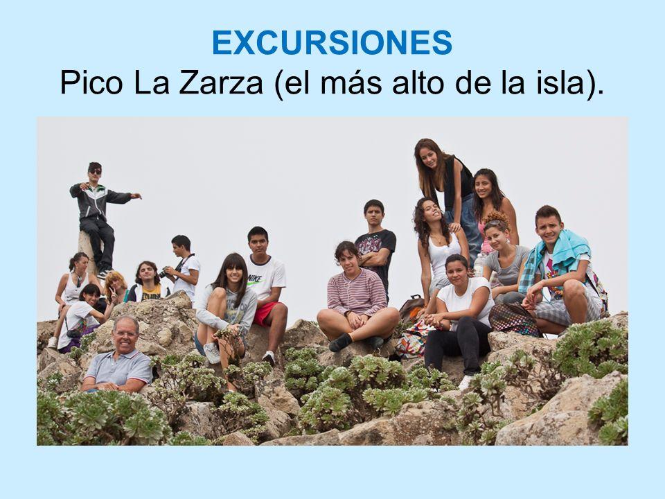 EXCURSIONES Pico La Zarza (el más alto de la isla).