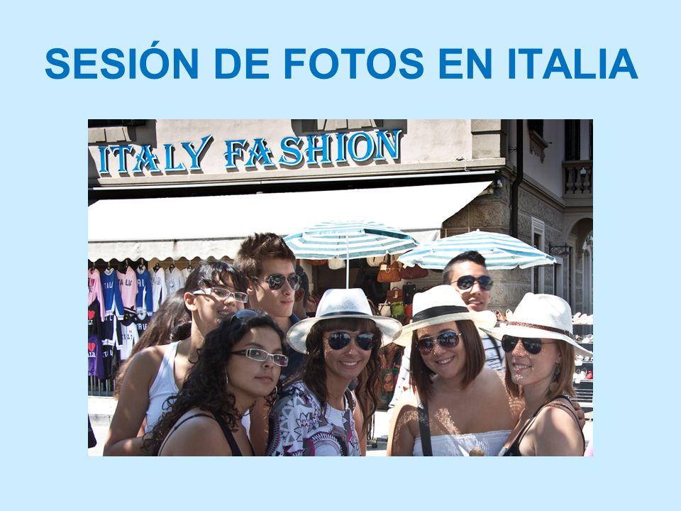 SESIÓN DE FOTOS EN ITALIA