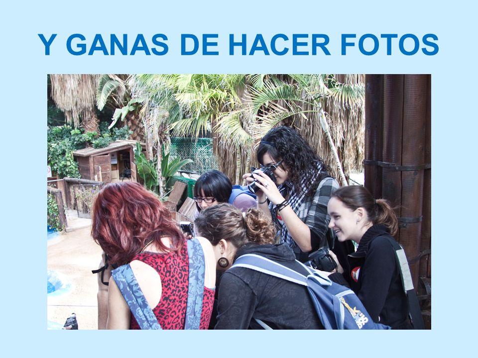 Y GANAS DE HACER FOTOS