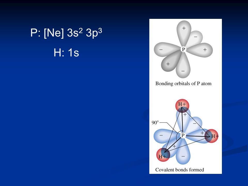 P: [Ne] 3s 2 3p 3 H: 1s