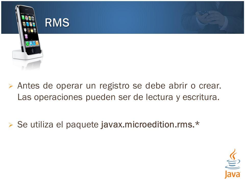Antes de operar un registro se debe abrir o crear.