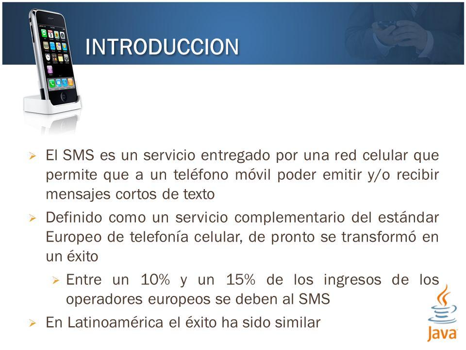 El SMS es un servicio entregado por una red celular que permite que a un teléfono móvil poder emitir y/o recibir mensajes cortos de texto Definido com