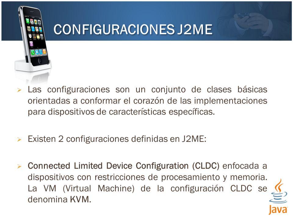 Las configuraciones son un conjunto de clases básicas orientadas a conformar el corazón de las implementaciones para dispositivos de características e