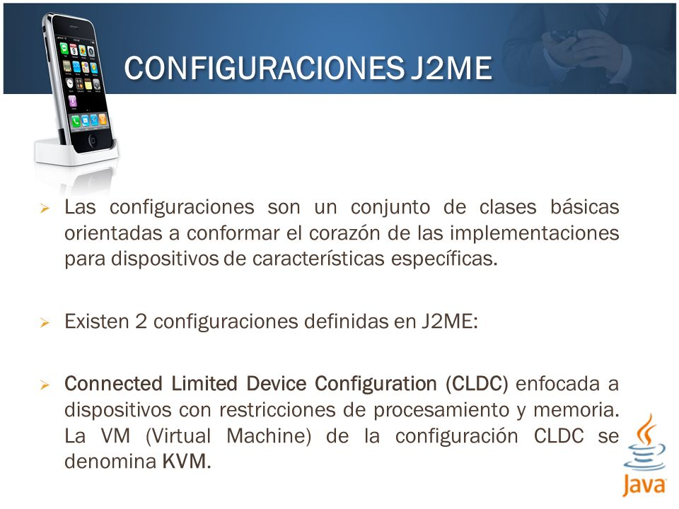 Las configuraciones son un conjunto de clases básicas orientadas a conformar el corazón de las implementaciones para dispositivos de características específicas.