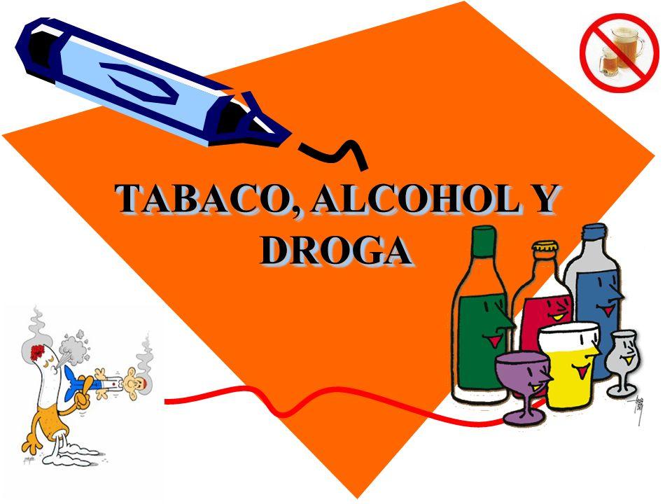 TABACO, ALCOHOL Y DROGA TABACO, ALCOHOL Y DROGA
