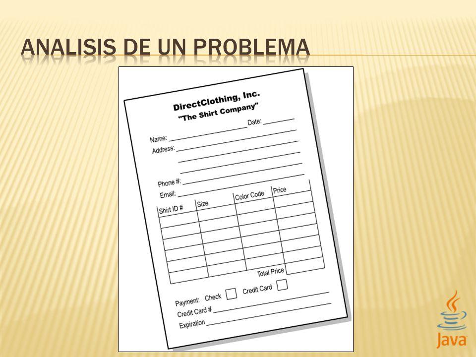 El dominio de un problema es el alcance del problema a resolver.