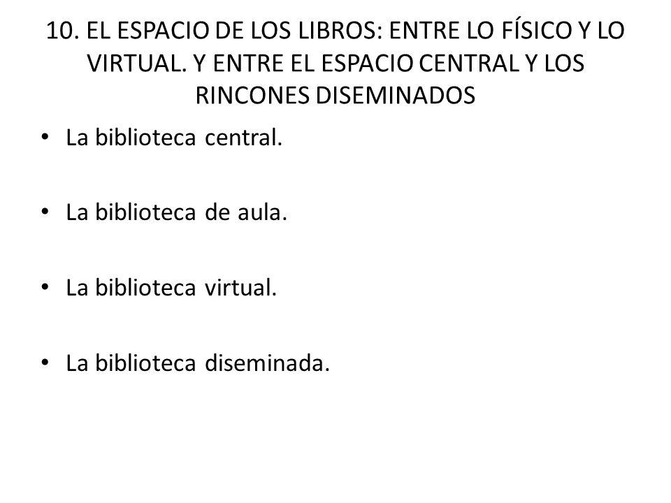 10. EL ESPACIO DE LOS LIBROS: ENTRE LO FÍSICO Y LO VIRTUAL.