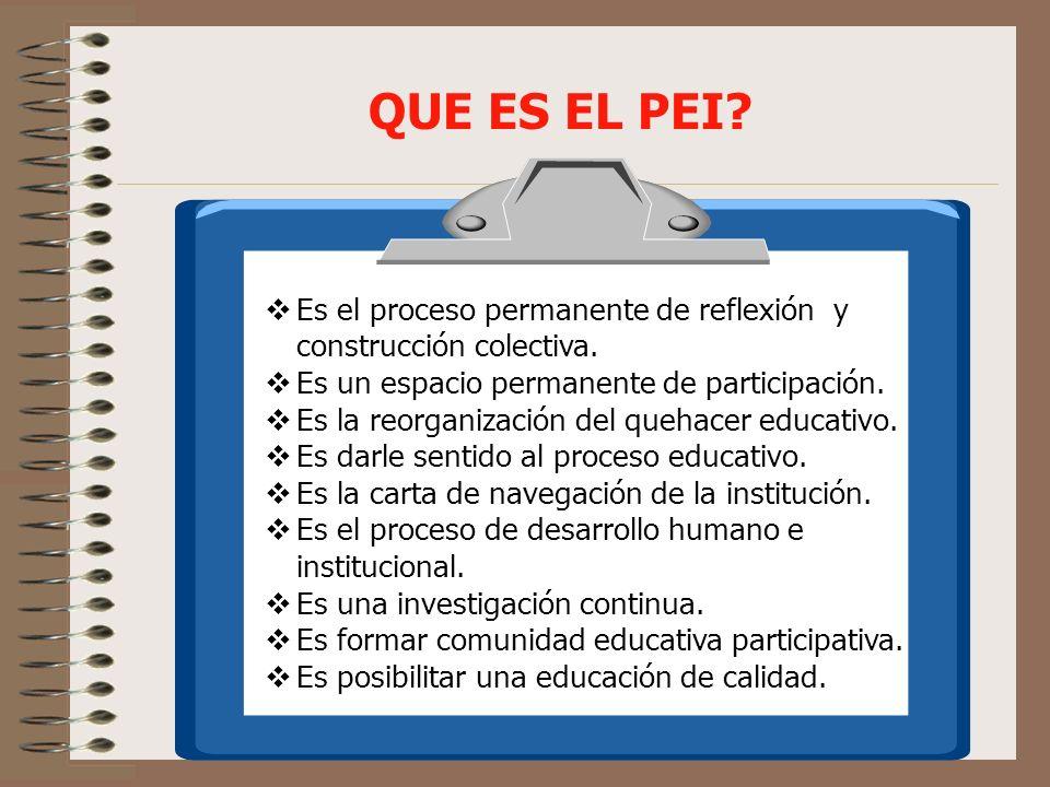 QUE BUSCA EL PEI.Promover una nueva organización escolar.