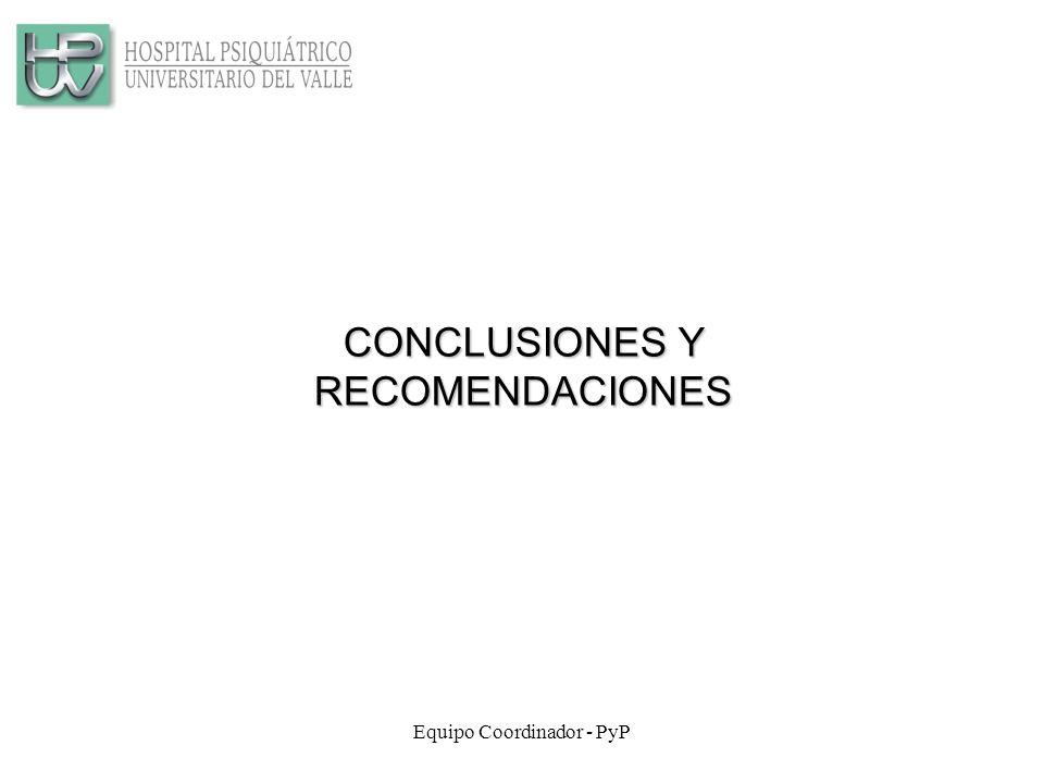 Equipo Coordinador - PyP CONCLUSIONES Y RECOMENDACIONES