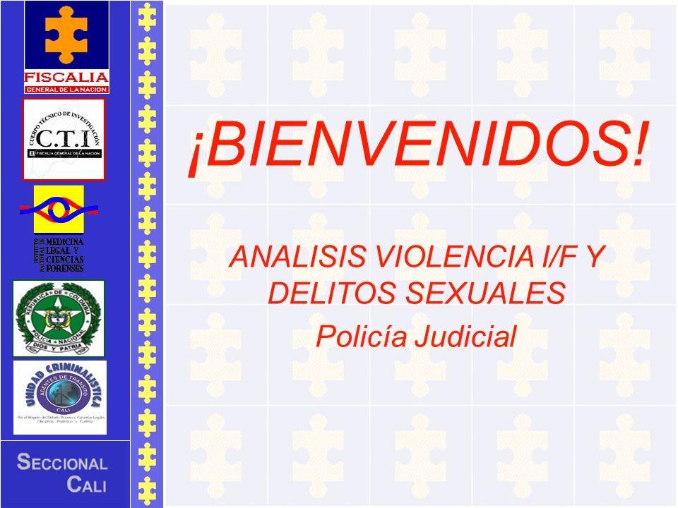 ¡BIENVENIDOS! ANALISIS VIOLENCIA I/F Y DELITOS SEXUALES Policía Judicial