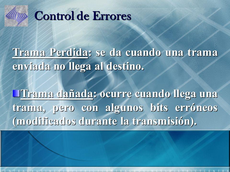 Formas de Control de Errores Confirmaciones positivas: el destino devuelve una confirmación positiva por cada trama recibida con éxito y libre de errores.
