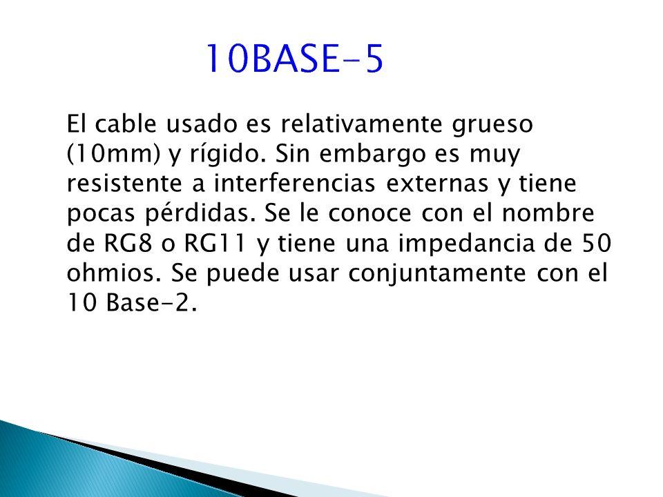 El cable usado es relativamente grueso (10mm) y rígido.