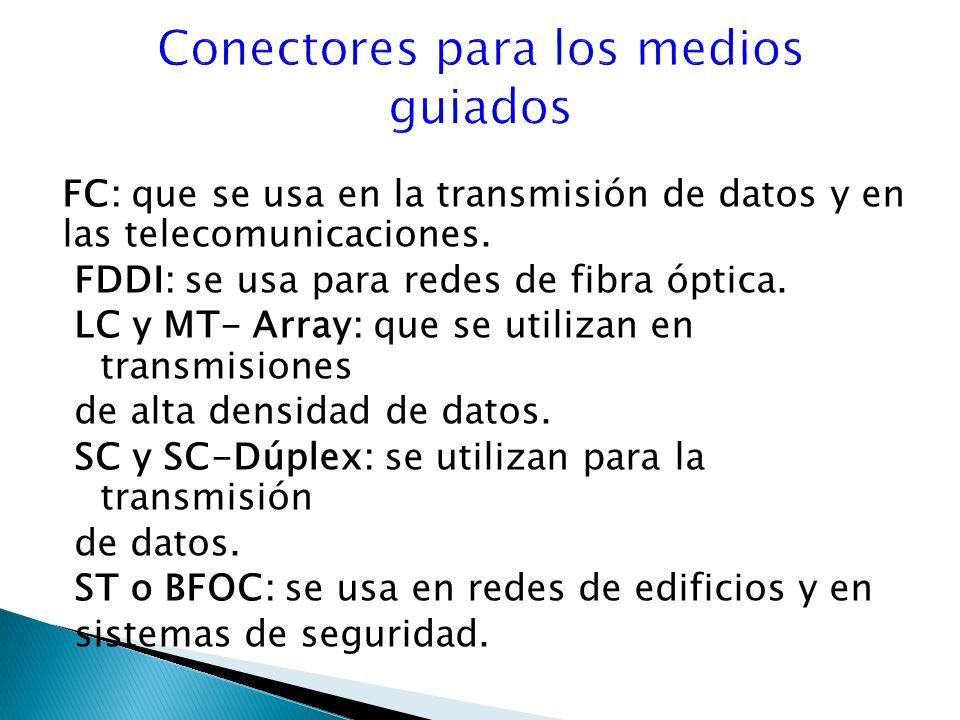 FC: que se usa en la transmisión de datos y en las telecomunicaciones.