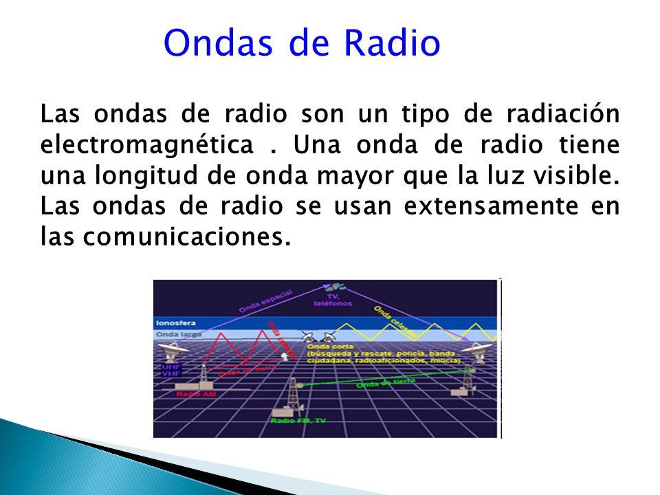 Ondas de Radio Las ondas de radio son un tipo de radiación electromagnética.