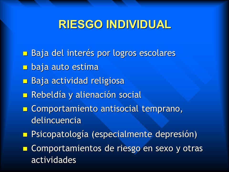 Factores generales condicionantes El individuo El individuo Tipo de personalidad »Toxicomanía traumática »Toxicomanía de neurosis real »Toxicomanía de