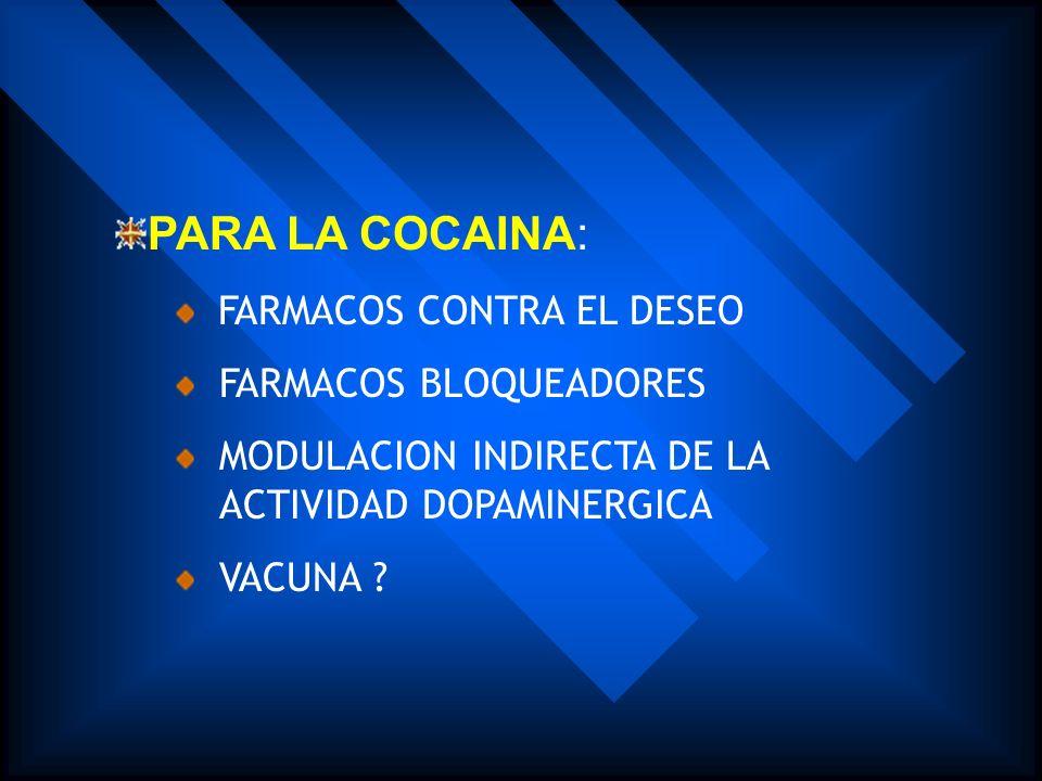 PARA LA MARIHUANA: FARMACOS EN PRUEBA PARA EL SINDROME DE ABSTINENCIA MEDICAMENTOS AGONISTAS MEDICAMENTOS ANTAGONISTAS PARA ENFERMEDADES COMORBIDAS