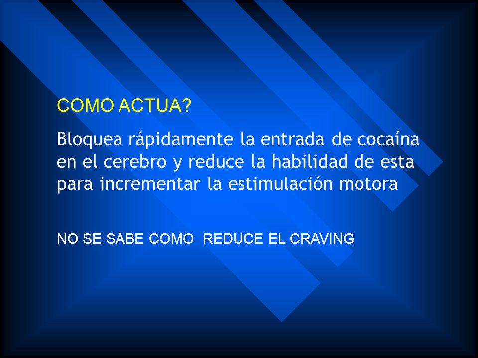 QUE ES? Es un derivado químico de la cocaína unido a una proteína transportadora reconocible por el organismo del ratón y que genera anticuerpos espec