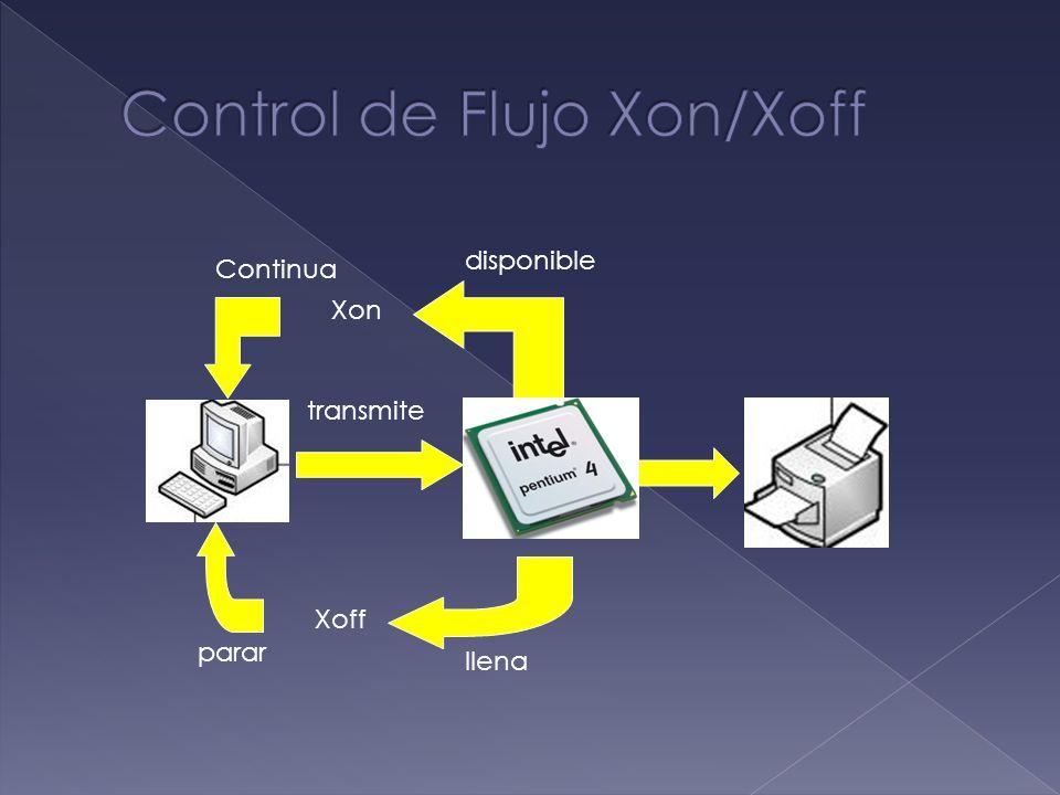 llena Xoff Xon disponible transmite parar Continua