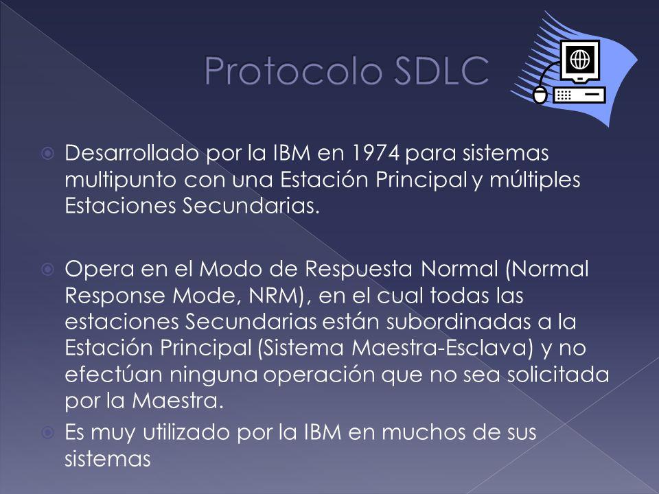 Desarrollado por la IBM en 1974 para sistemas multipunto con una Estación Principal y múltiples Estaciones Secundarias. Opera en el Modo de Respuesta