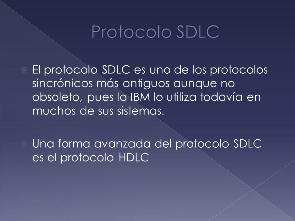 El protocolo SDLC es uno de los protocolos sincrónicos más antiguos aunque no obsoleto, pues la IBM lo utiliza todavía en muchos de sus sistemas. Una