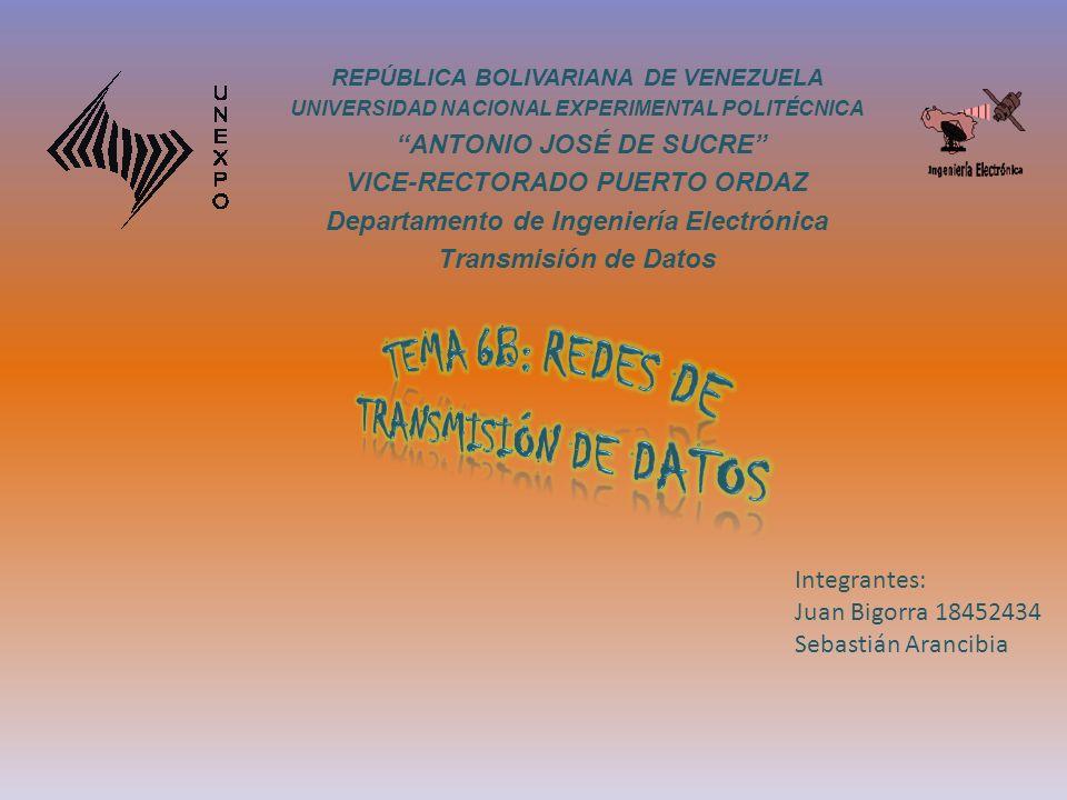REPÚBLICA BOLIVARIANA DE VENEZUELA UNIVERSIDAD NACIONAL EXPERIMENTAL POLITÉCNICA ANTONIO JOSÉ DE SUCRE VICE-RECTORADO PUERTO ORDAZ Departamento de Ing