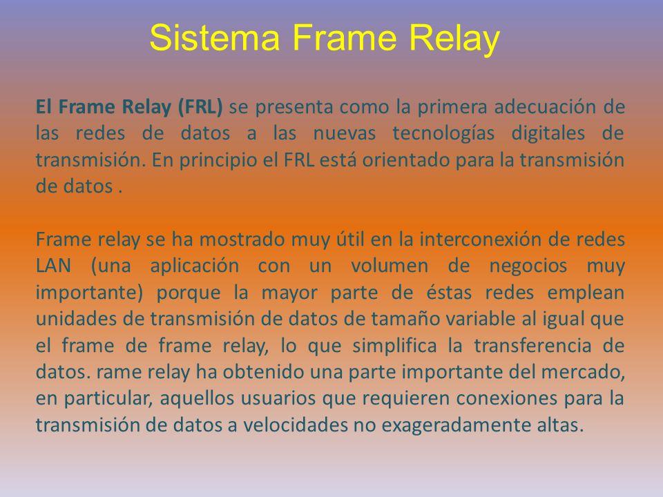 El Frame Relay (FRL) se presenta como la primera adecuación de las redes de datos a las nuevas tecnologías digitales de transmisión. En principio el F