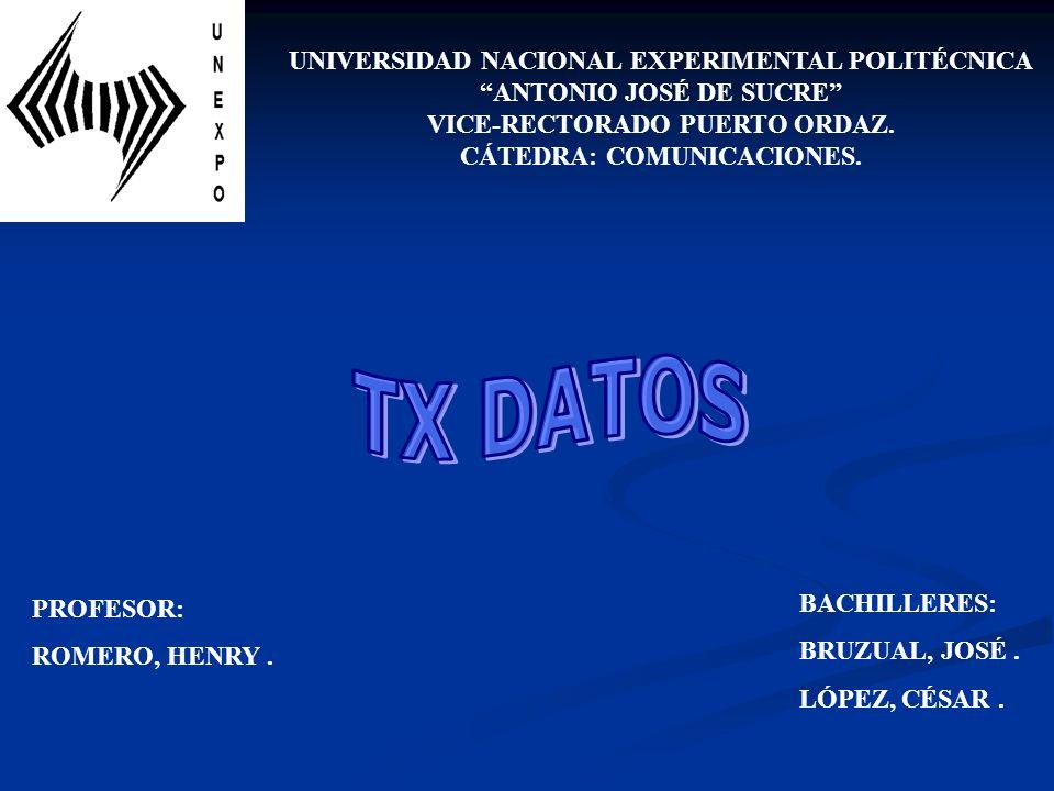 UNIVERSIDAD NACIONAL EXPERIMENTAL POLITÉCNICA ANTONIO JOSÉ DE SUCRE VICE-RECTORADO PUERTO ORDAZ. CÁTEDRA: COMUNICACIONES. BACHILLERES: BRUZUAL, JOSÉ.
