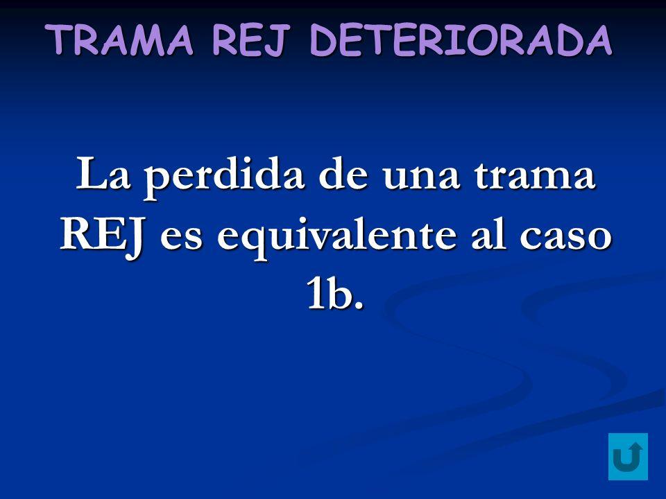 TRAMA REJ DETERIORADA La perdida de una trama REJ es equivalente al caso 1b.
