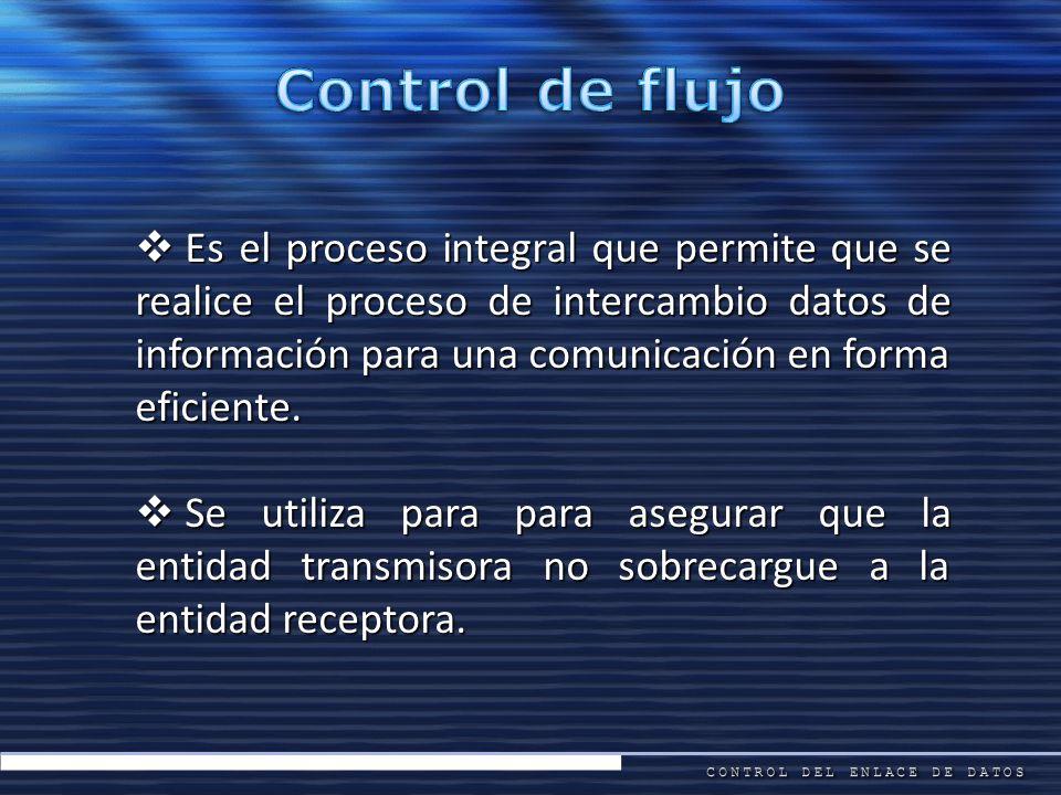 Es el proceso integral que permite que se realice el proceso de intercambio datos de información para una comunicación en forma eficiente. Es el proce