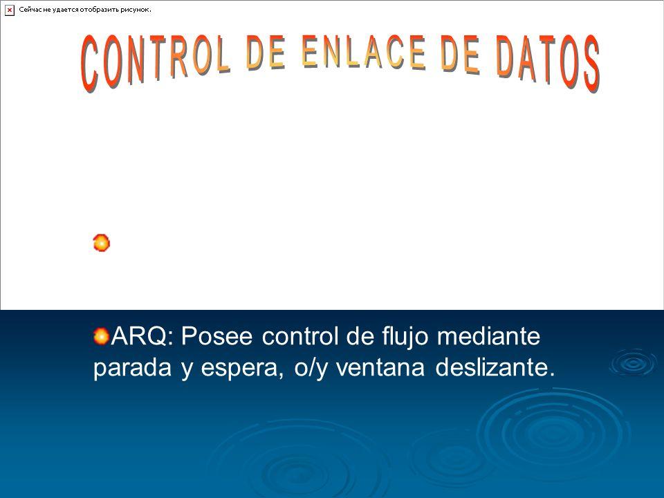 Control de errores Identificar Trama de datos Códigos detectores y correctores de error Control de flujo Gestión y coordinación de la comunicación.