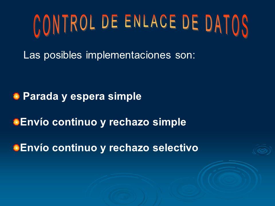Los métodos de control de errores son básicamente 2 : FEC: o corrección de errores por anticipado y no tiene control de flujo. ARQ: Posee control de f