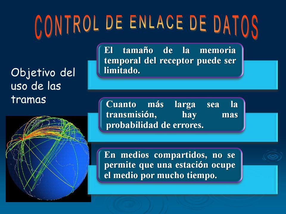 En la cabecera habrá campos de control de protocolo La parte de datos es la que quiera transmitir en nivel de comunicación superior, típicamente el ni