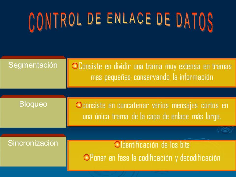 Las funciones que se cumplen en esta capa a fin de que la comunicación sea fiable son Iniciación Activa el enlace Intercambia tramas de control termin