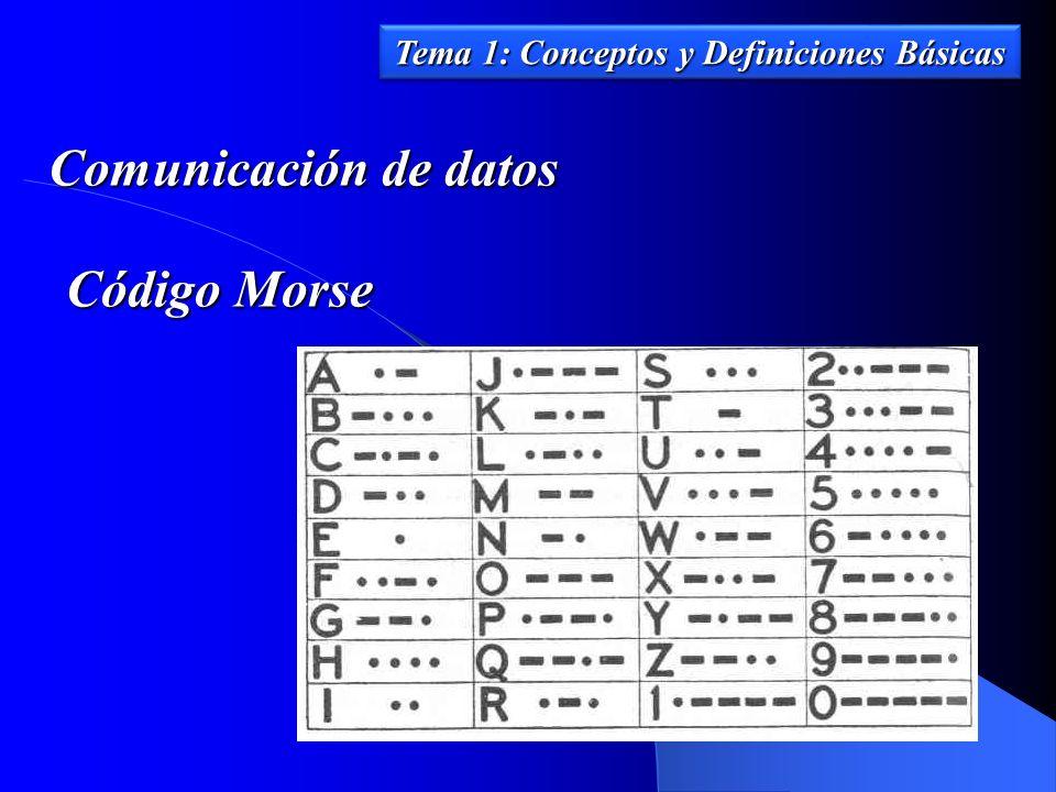 Comunicación de datos Tema 1: Conceptos y Definiciones Básicas Código Morse
