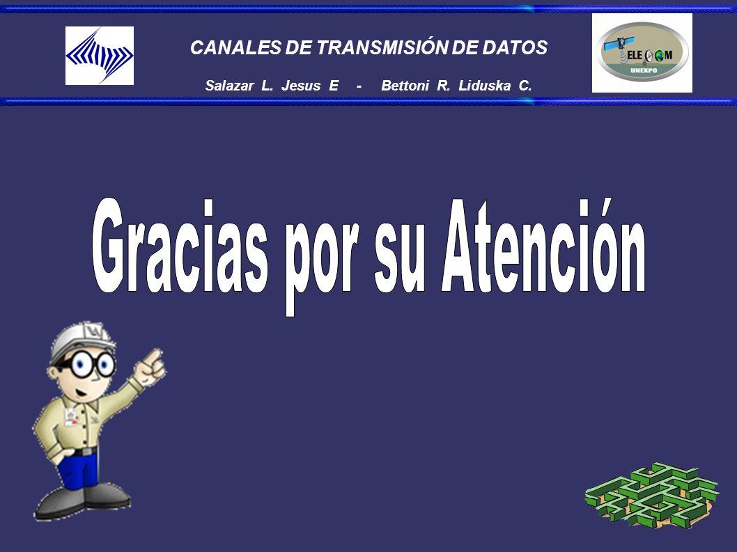 CANALES DE TRANSMISIÓN DE DATOS Salazar L. Jesus E - Bettoni R. Liduska C.