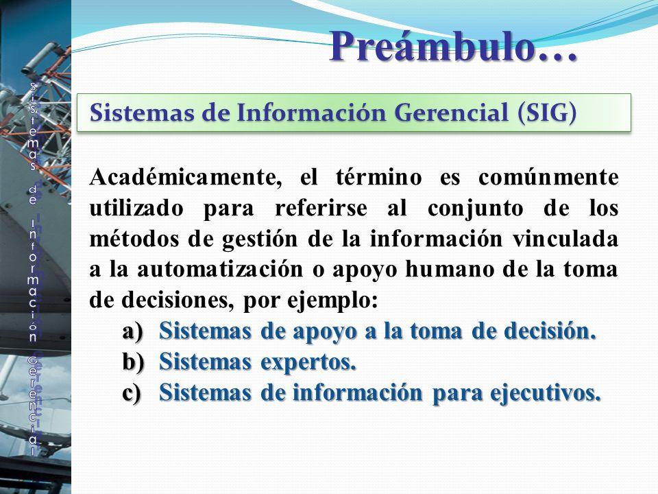 Académicamente, el término es comúnmente utilizado para referirse al conjunto de los métodos de gestión de la información vinculada a la automatizació
