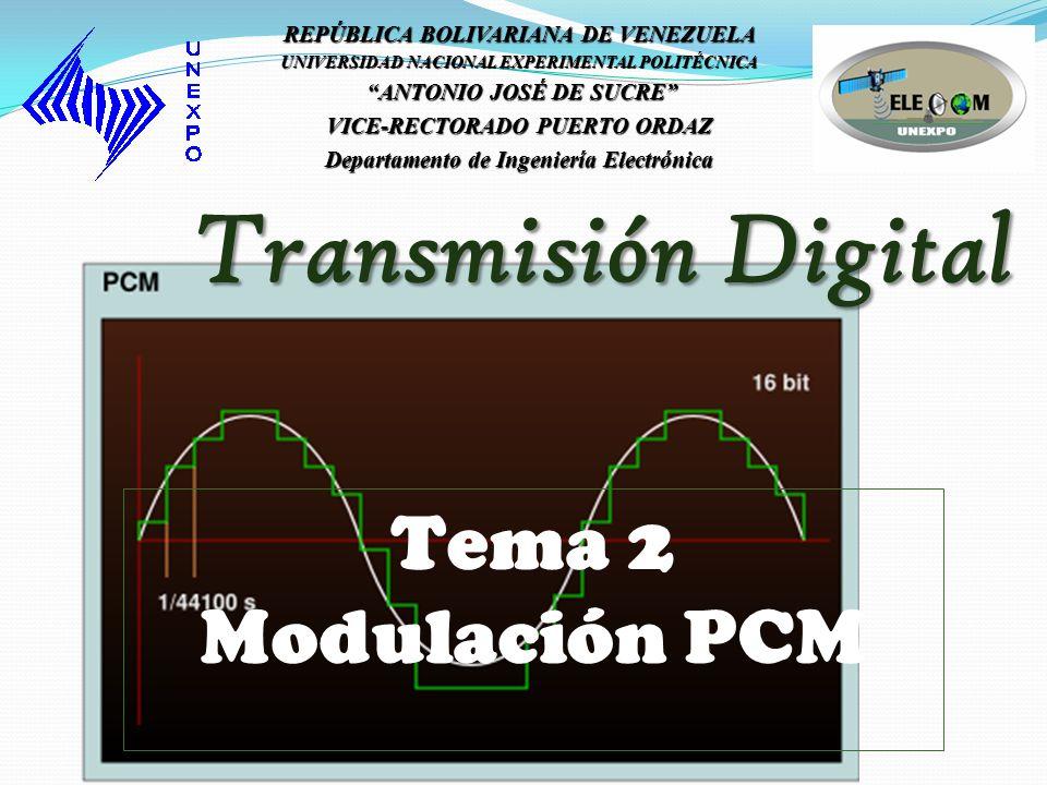 Aplicaciones de PCM Los sistemas de comunicaciones actuales, están basados en su mayoría, en sistemas digitales, es decir, transmisión de 1´s y 0´s en vez de valores analógicos.