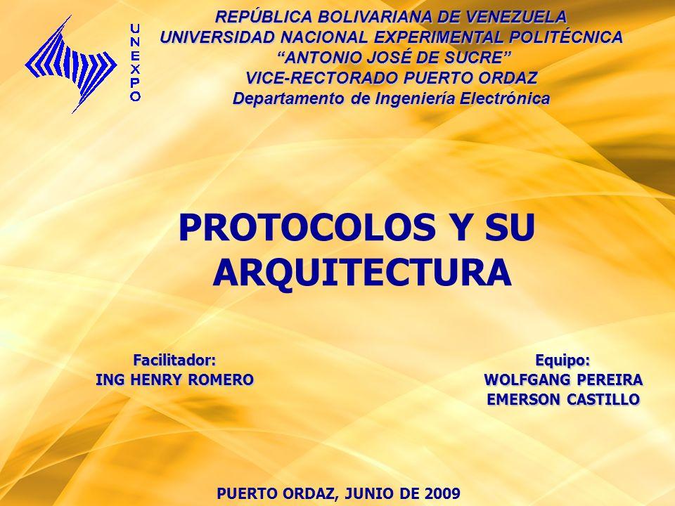 PUERTO ORDAZ, JUNIO DE 2009 REPÚBLICA BOLIVARIANA DE VENEZUELA UNIVERSIDAD NACIONAL EXPERIMENTAL POLITÉCNICA ANTONIO JOSÉ DE SUCRE ANTONIO JOSÉ DE SUC