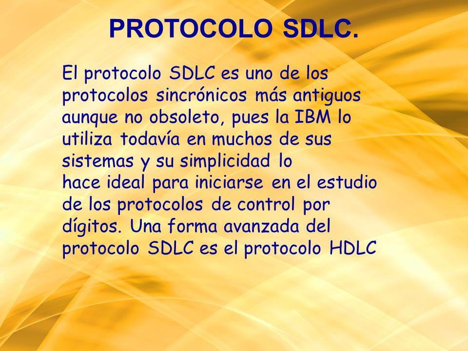 El protocolo SDLC es uno de los protocolos sincrónicos más antiguos aunque no obsoleto, pues la IBM lo utiliza todavía en muchos de sus sistemas y su