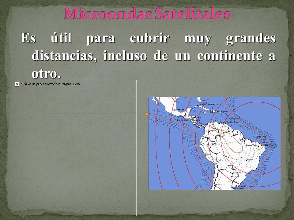 Es útil para cubrir muy grandes distancias, incluso de un continente a otro.