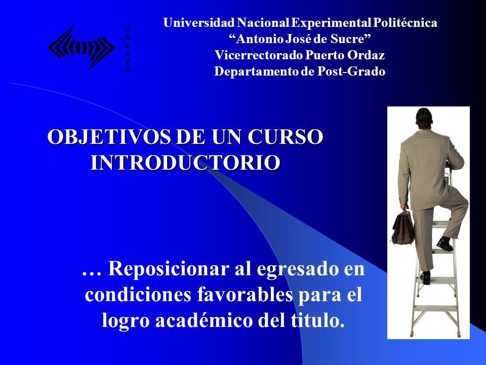 Universidad Nacional Experimental Politécnica Antonio José de Sucre Vicerrectorado Puerto Ordaz Departamento de Post-Grado Gracias