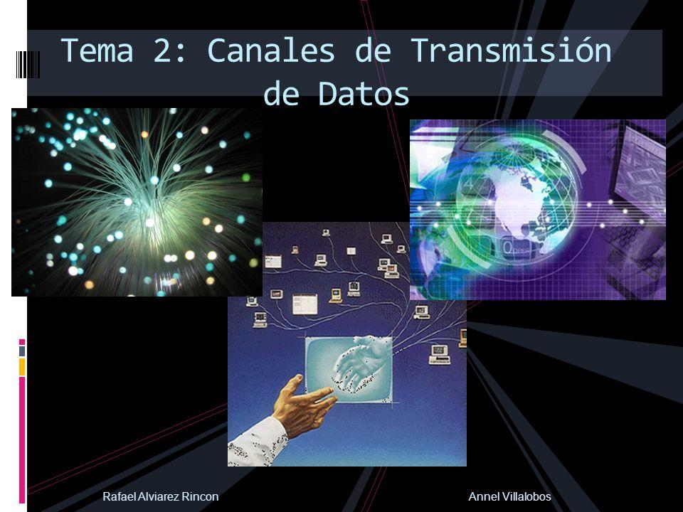 Tema 2: Canales de Transmisión de Datos Rafael Alviarez Rincon Annel Villalobos